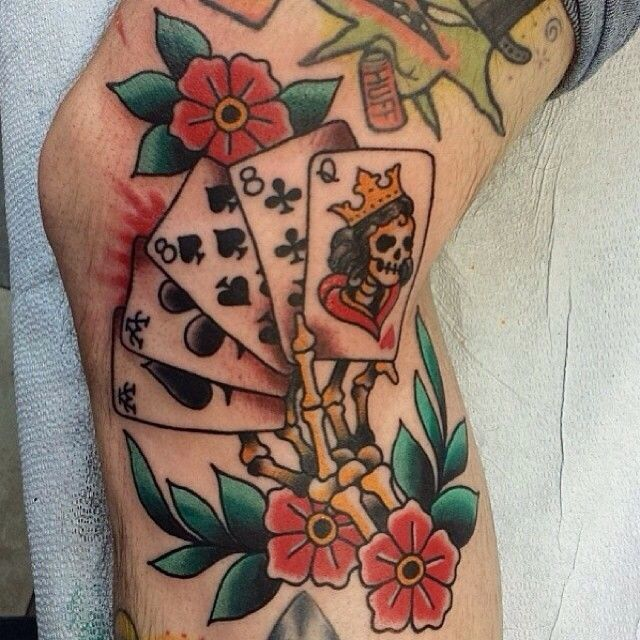 Old school gambling tattoos departager double paire poker