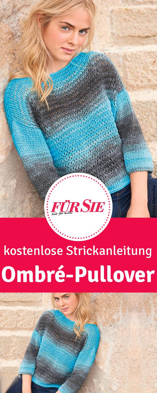 Photo of Strickpulli mit schöner Ombré-Färbung
