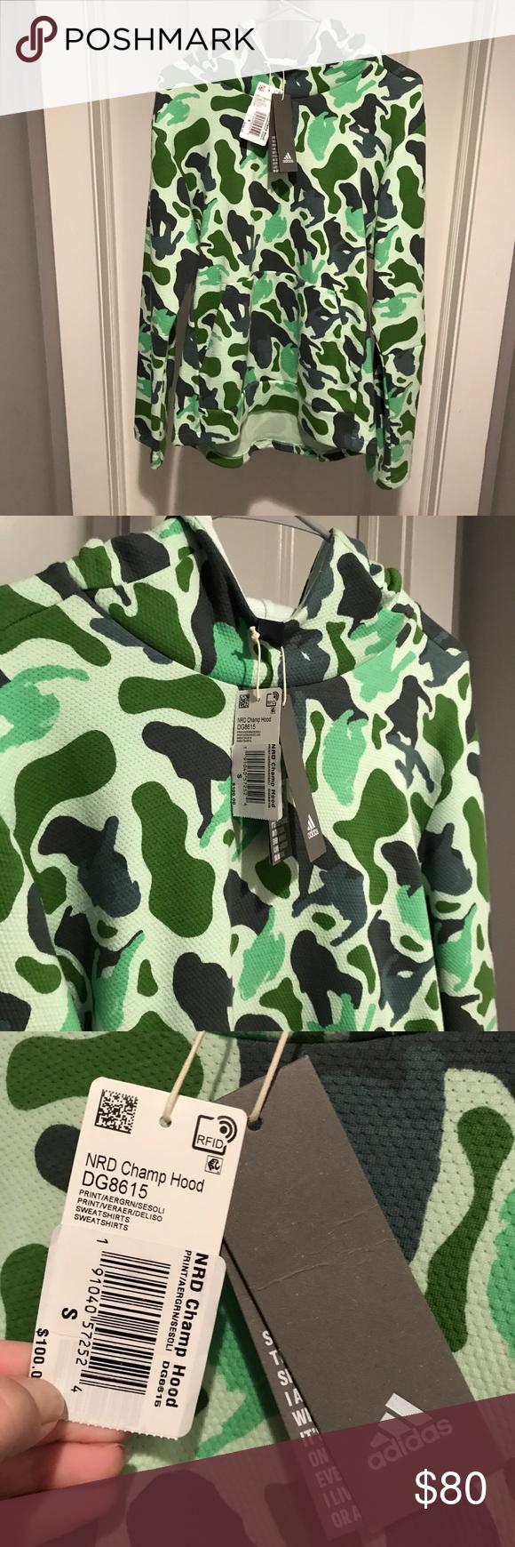 Nwt Adidas Camo N E R D Id Champ Hoodie Size S Adidas Camo Clothes Design Hoodies [ 1740 x 580 Pixel ]