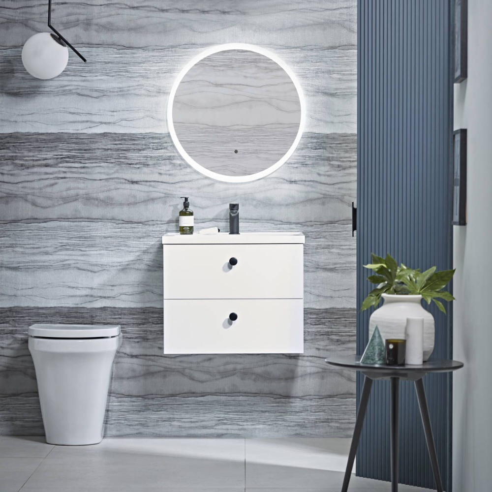 Tavistock Aster Ultra Slim Round Led Illuminated Mirror 600 X 600mm Mirror Tavistock Led Mirror