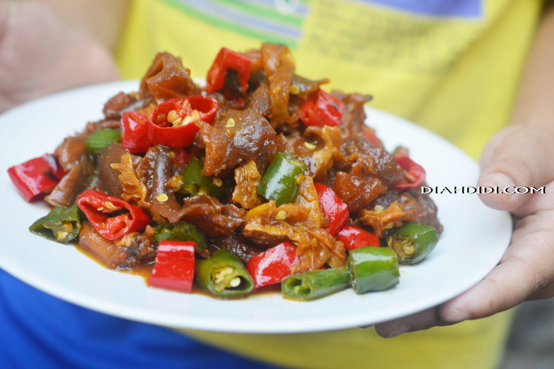 Diah Didi S Kitchen Oseng Kikil Lombok Kethok Makanan Resep Masakan Resep