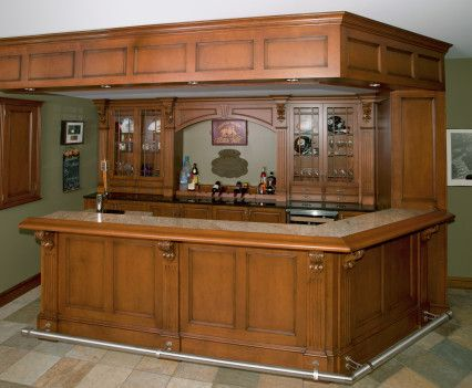 Irish Pub Home Bar With Built In Beer Meister