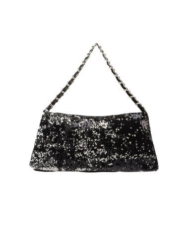 G.J.L. - Large leather bag. Gold and silver sequins with red leather please!