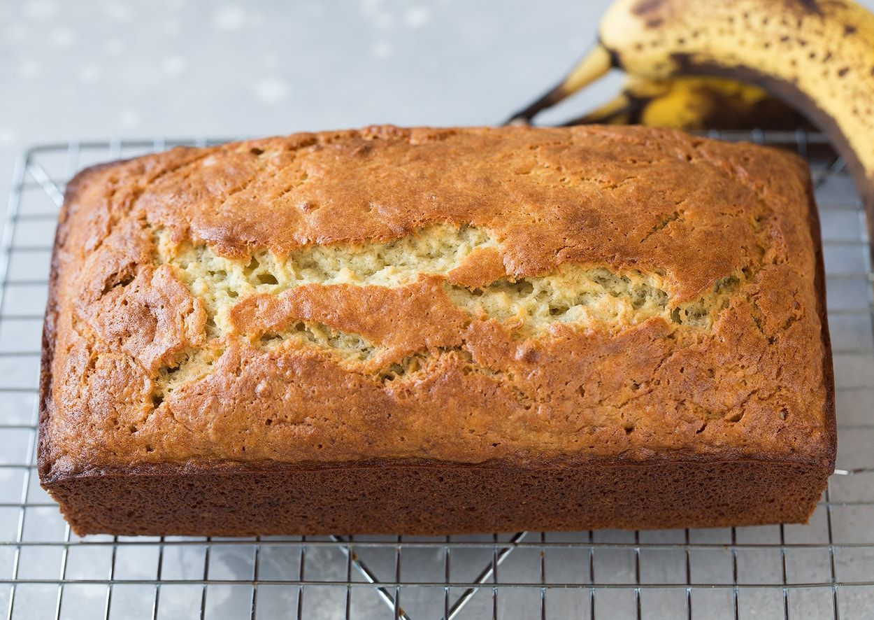 Loaf Of Banana Bread On Cooling Rack Banana Bread Recipes Best Banana Bread Homemade Banana Bread
