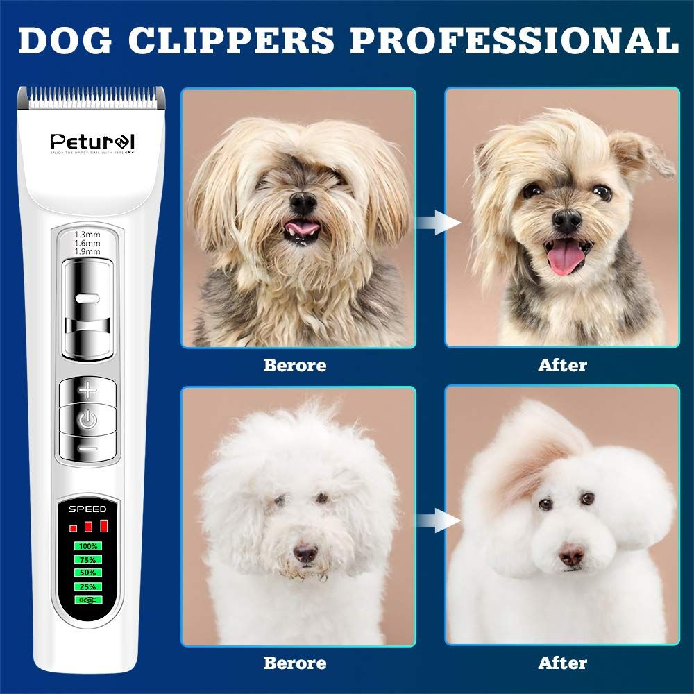 Dog Clippers Professional Heavy Duty Dog Grooming Clippers Trimmers Clippers Quiet Pet Clippers Grooming Kit For Thick Coats Cat Clippe