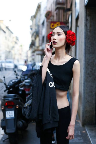 a375ae149 dylan-xue:Street Style: Dylan Xue at Milan Fashion Week Spring 2015  theculturestop