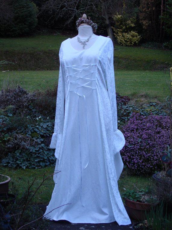 White elven renaissance medieval pagan celtic wedding handfasting ...