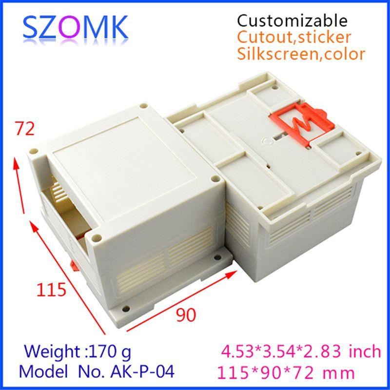 Din Enclosures For Electronics Box 1 Pcs 115 90 72mm Abs Plastic Enclosure Instrument Box Project Case Outlet Enclo Electrical Equipment Electricity Supplies