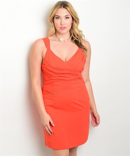 Sexy Plus Size Bodycon Burnt Orange Dress 27 10 5dollarfashion