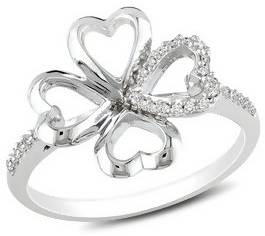 #Ice.com                  #ring                     #1/10 #Carat #Diamond #Sterling #Silver #Four #Leaf #Clover #Ring #RDY_121210                           1/10 Carat Diamond Sterling Silver Four Leaf Clover Ring - RDY_121210                                   http://www.seapai.com/product.aspx?PID=683166