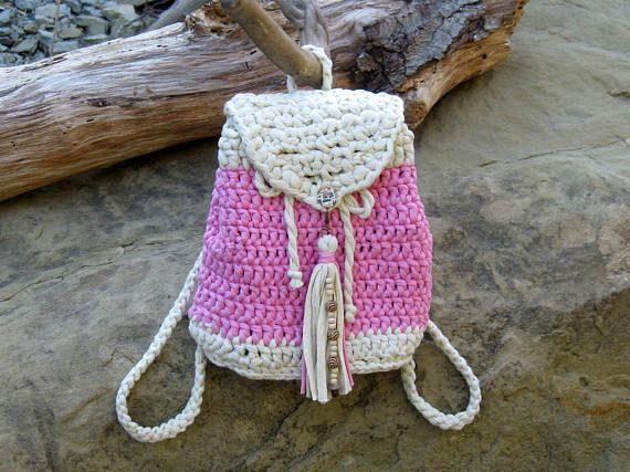 Gift For Her Crochet Handbag Knit Backpack Bucket Bag Flap Bag