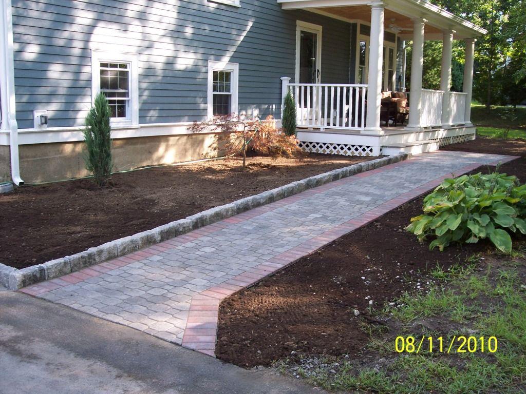 Landscape edging stones belgik edge landscape edge for Front yard edging ideas