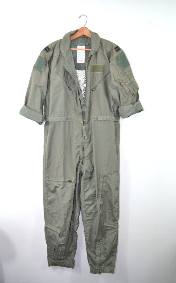 82bf4425345 Vintage Jumpsuit Air Force Flight Suit K-2B Military Coveralls Vietnam Era Flightsuit  Jumpsuit Us Air Force