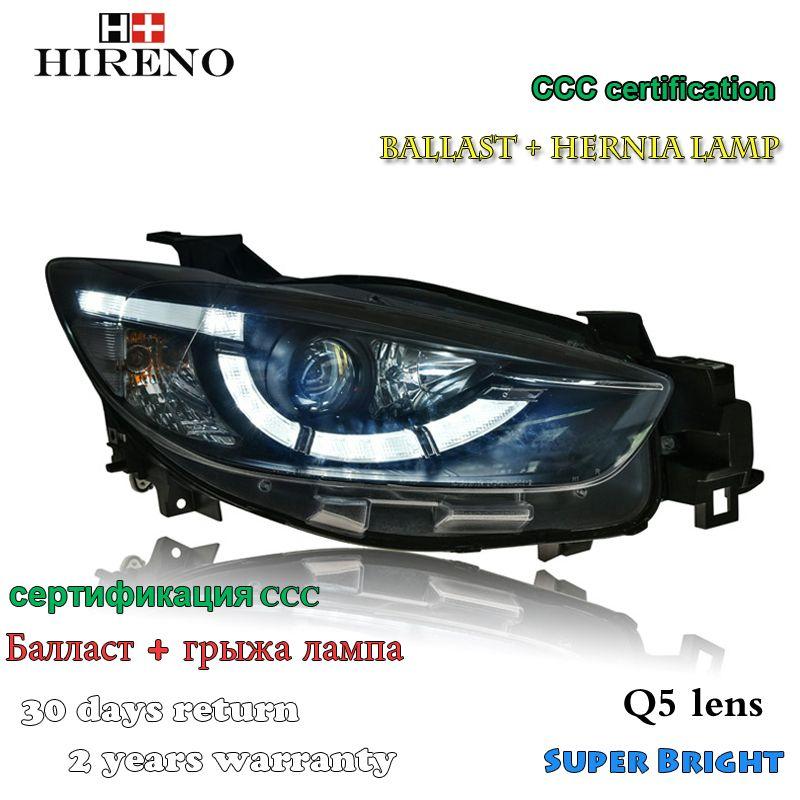 Hireno Headlamp For 2012 2016 Mazda Cx 5 Headlight Assembly Led Drl Angel Lens Double Beam Hid Xenon 2pcs Hid Xenon Mazda Headlight Assembly