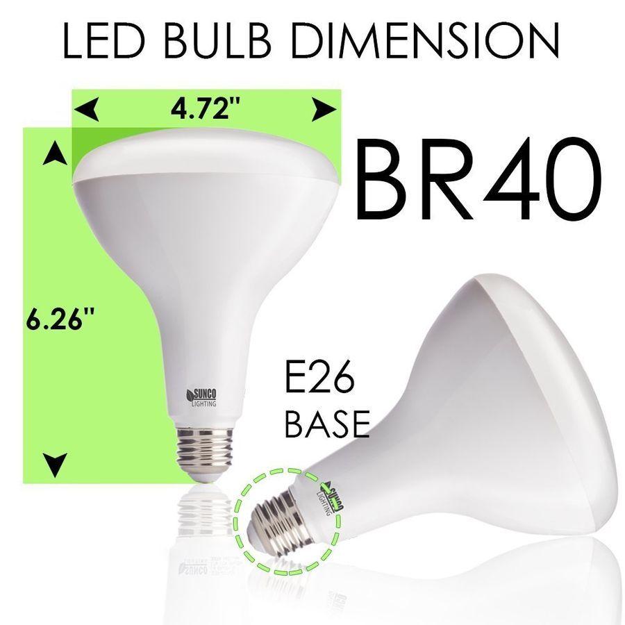 Sunco 12 Pack Br40 Flood Led Light Bulb 17w 1400 Lumen 5000k Daylight Dimmable 632030024659 Ebay Led Flood Bulb Bulb Lighting Led