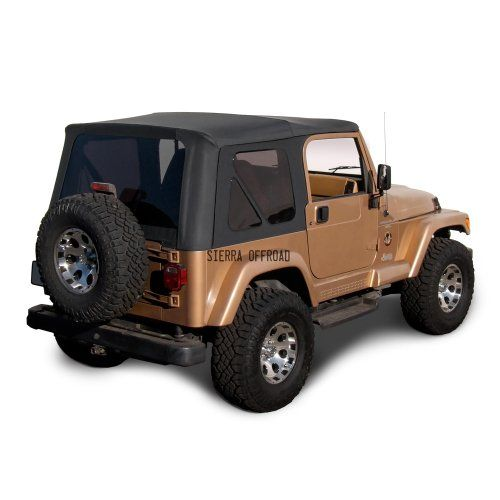 Descendants Costumes Sierra Offroad Jeep Wrangler Tj 19972002 Factory Style Soft Top With Tinted Windows Jeep Wrangler Soft Top Jeep Wrangler Tj Jeep Wrangler