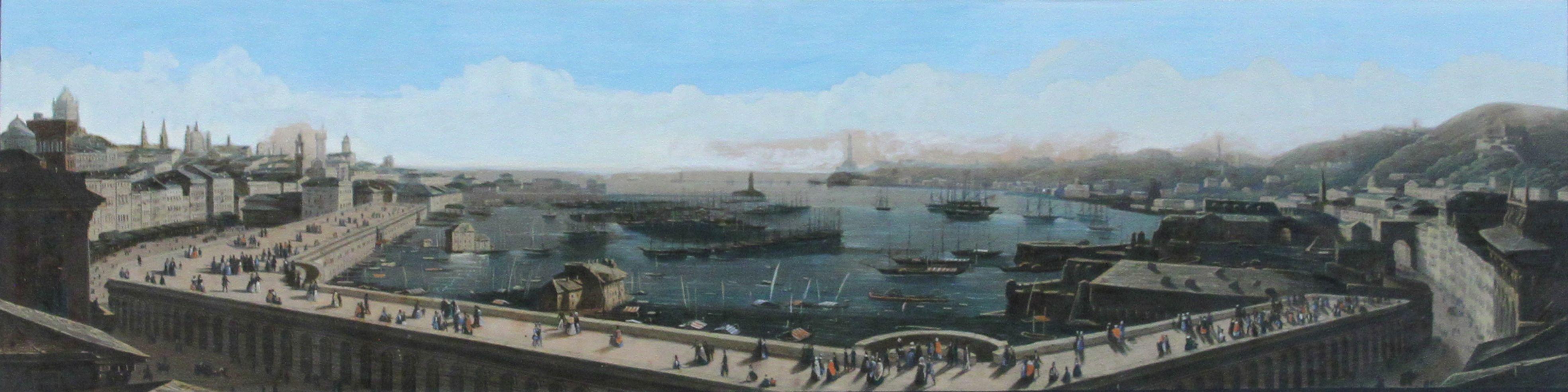 Citterio Genova Veduta del porto con le terrazze di