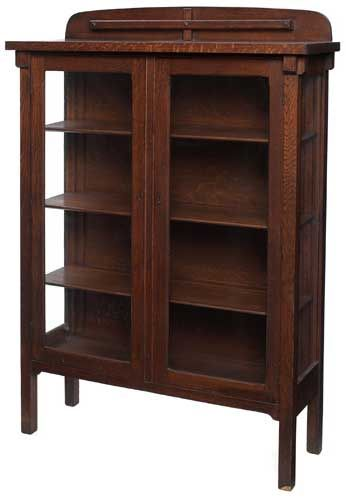 Arts Amp Crafts Bookcase Cabinet Quartersawn Oak With Glass