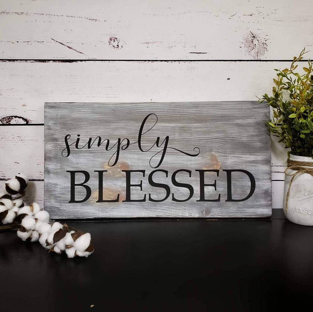 Amazon Com Jerome George New Sign Christian Wood Sign Bible Verse Wall Art Scripture Wall Decor Inspirational Signs Wood Signs Bible Verse Blessed Sign