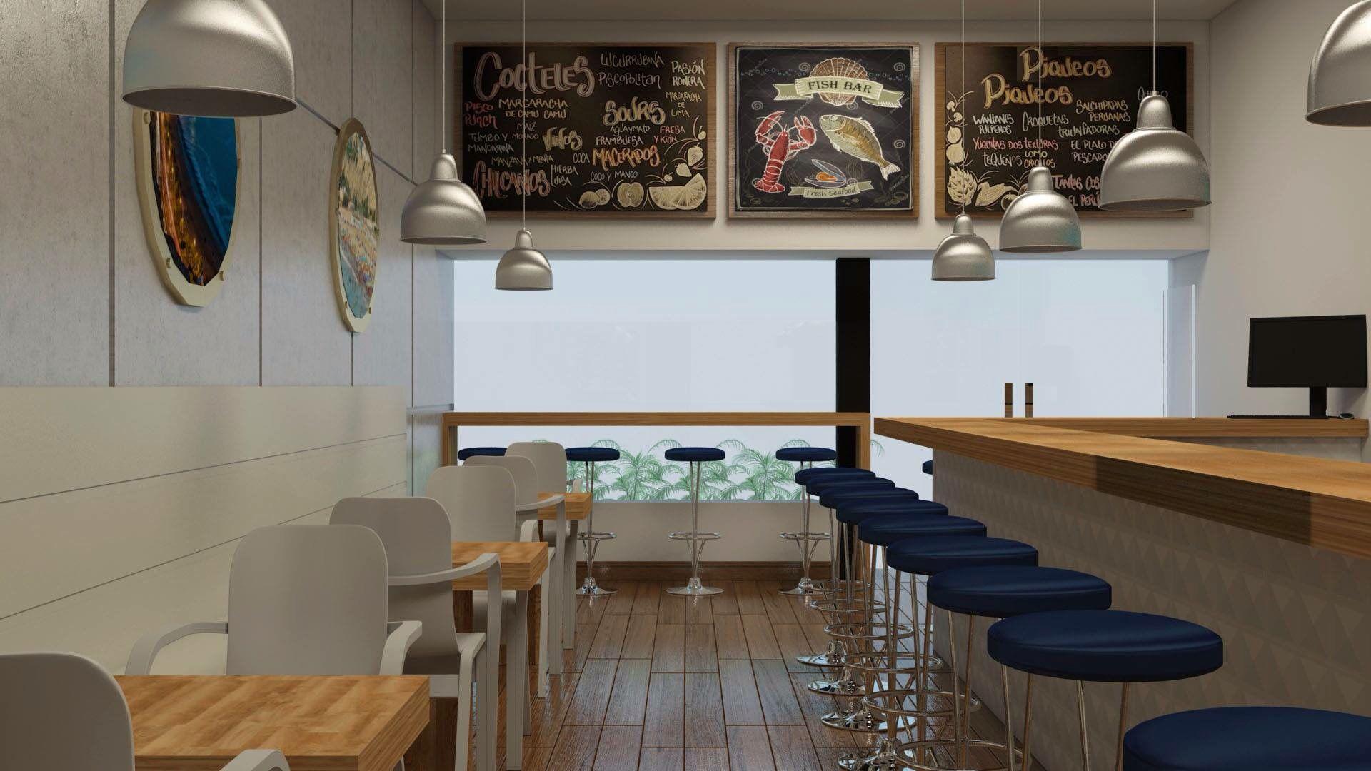 Dise O Restaurant Cevicheria Barra Marina Donde Podr N  # Muebles Dettaglio Condesa