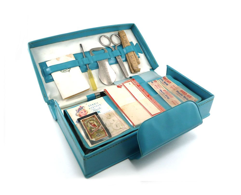 My Girl Friday   Home Travel Office Supply Kit In Teal Turquoise  Indespensable Companion. $28.50