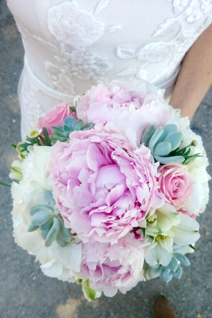 meine blumenstrau mit pfingstrosen hortensien und succulents weddingflowers wedding. Black Bedroom Furniture Sets. Home Design Ideas
