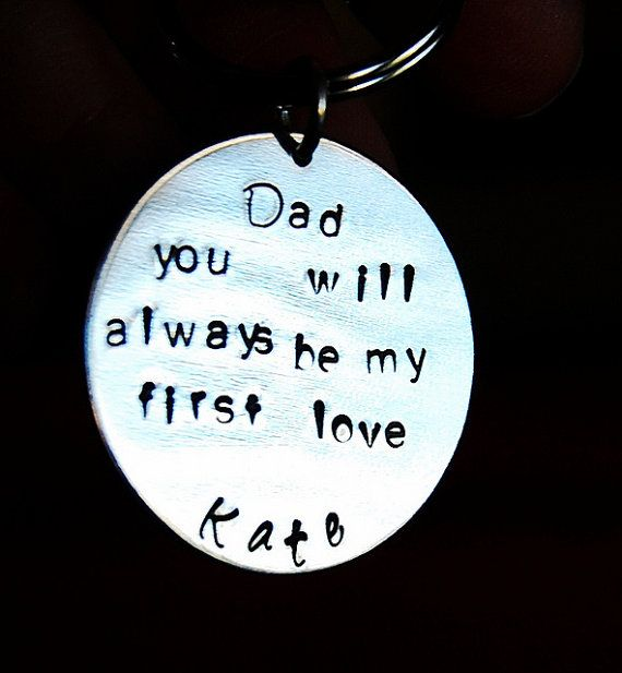 Father of the Bride Keychain Gift for Father by SoBlessedDesigns, $19.00