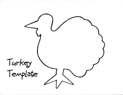 turkey outline Turkey Coloring Book November Turkey template