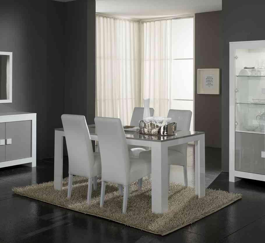 Impressionnant Promo Chaises Salle Manger Décoration Française - Console extensible blanc laquee pour idees de deco de cuisine