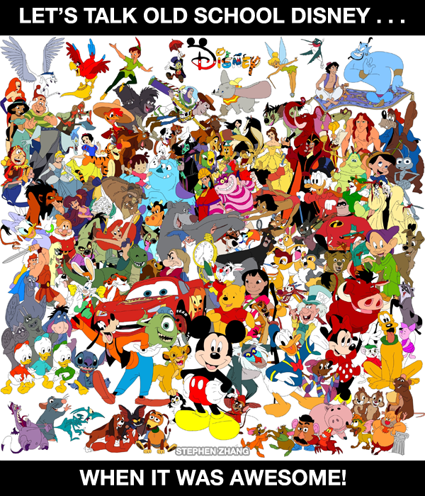 Lets talk Old School Disney  When it was AWESOME  Not all of
