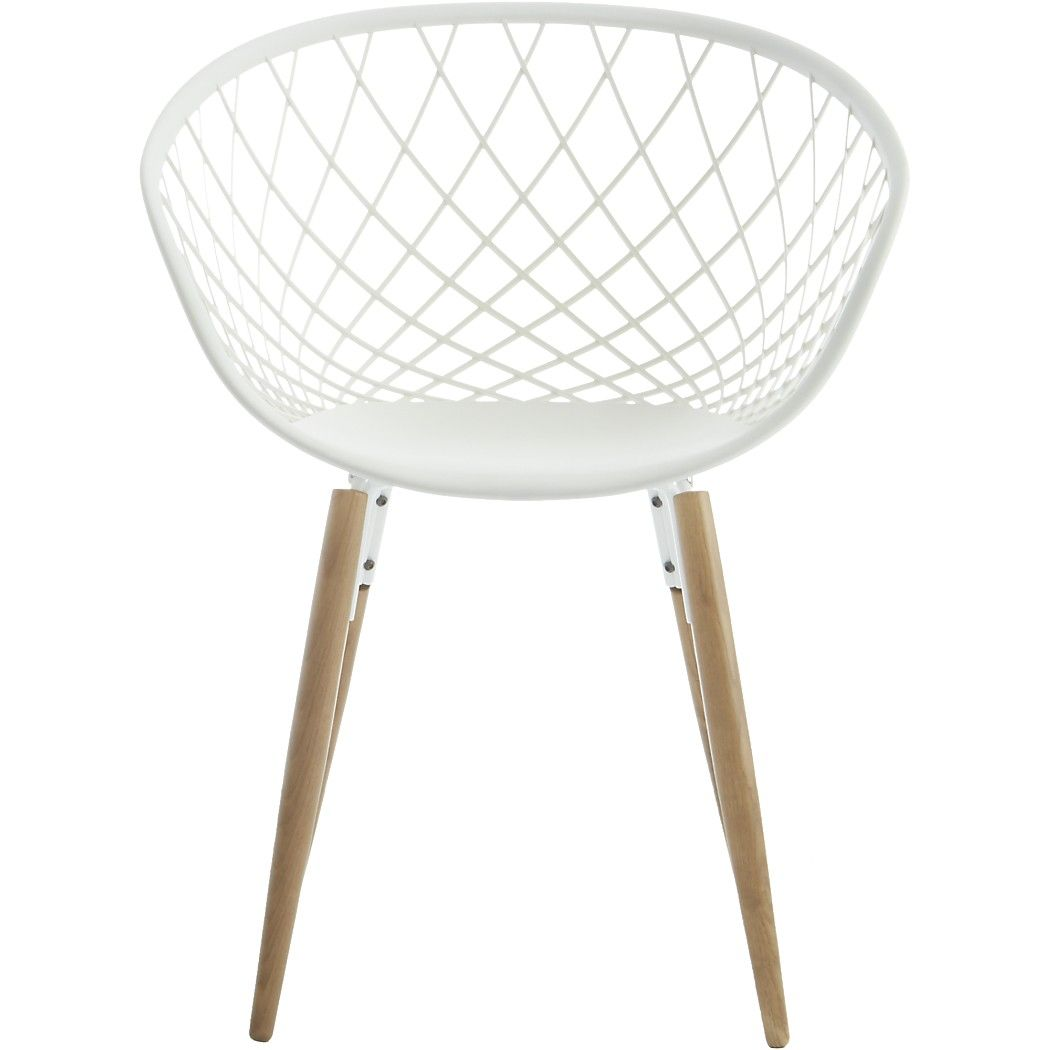 Sidera White Crosshatch Chair Reviews Deco Maison Deco Maison
