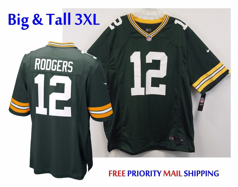 40586d91 $45 Free Ship Aaron Rodgers #12 Nike Replica Jersey 3XL Green Bay ...