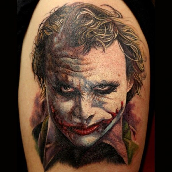 Tattoo Ideas Joe: Heath Ledger Joker Tattoo