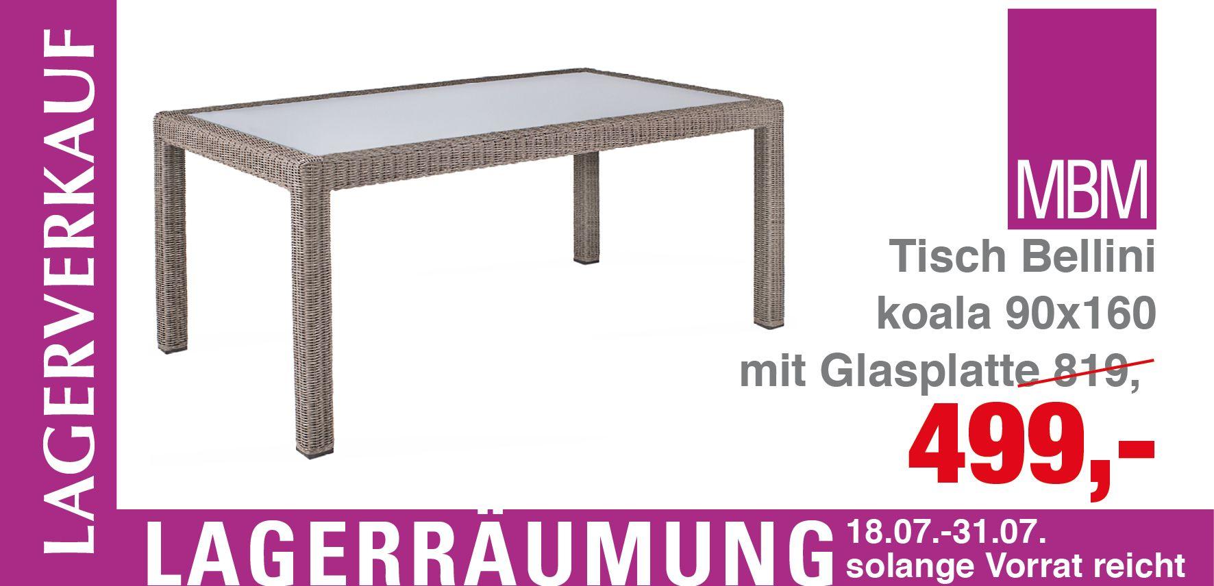 Neues Angebot: Tisch Bellini mit Glasplatte - Tisch Bellini mit ...