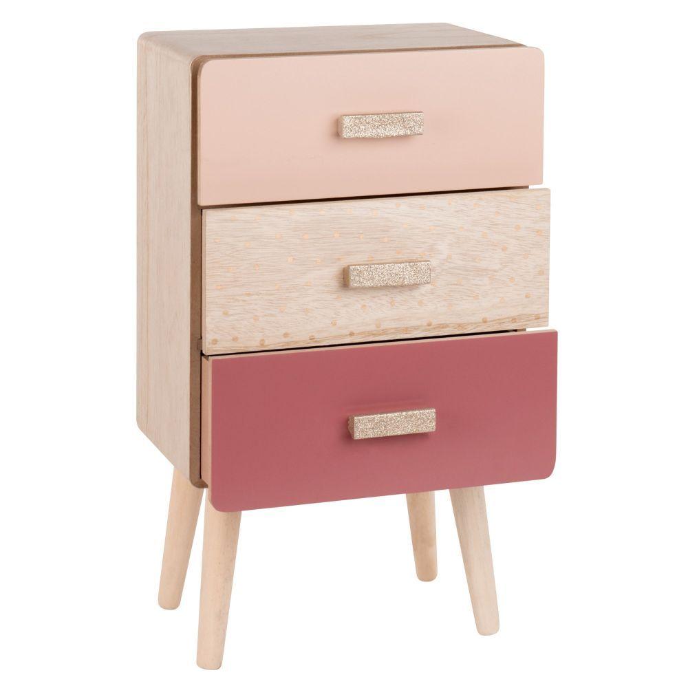 Meuble De Rangement 3 Tiroirs Tricolores Maisons Du Monde Muebles De Bricolaje Decoracion De Muebles Muebles De Pino