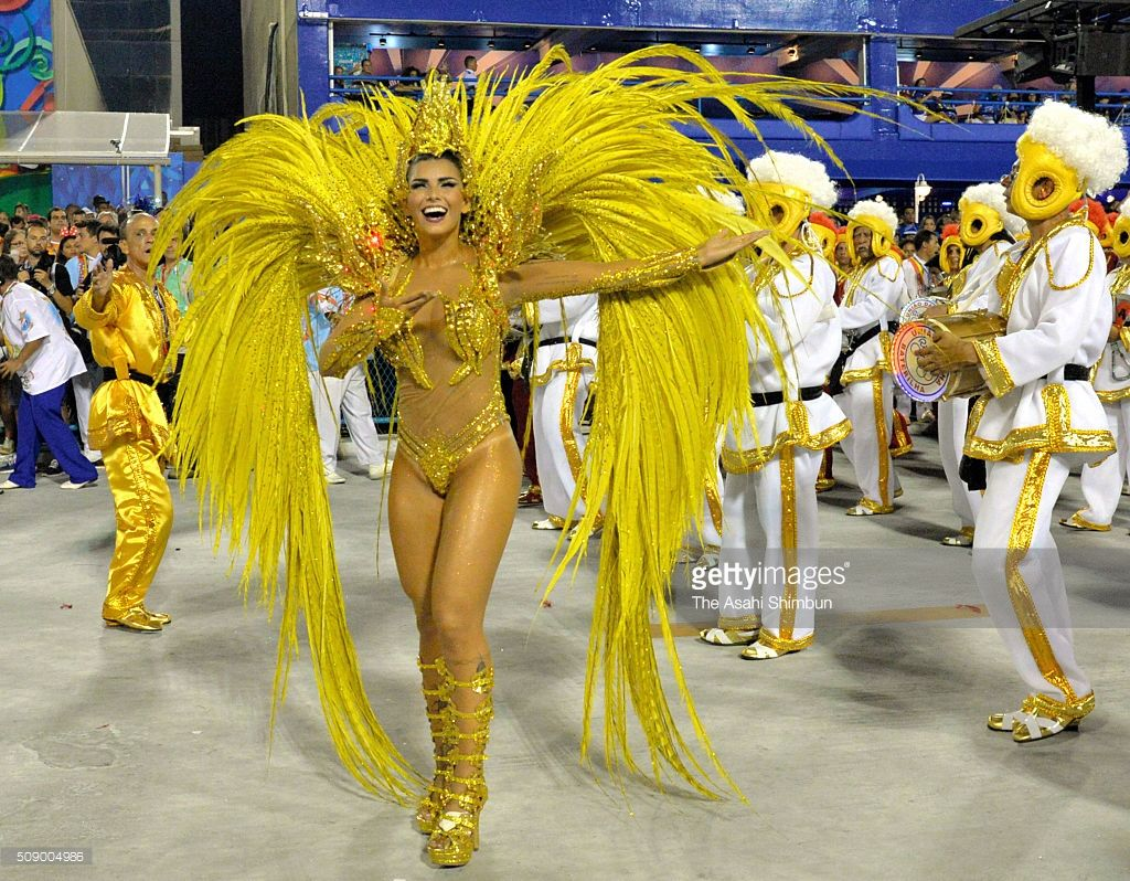 Dancers perform as the Rio Carnival continues on February 7, 2016 ...