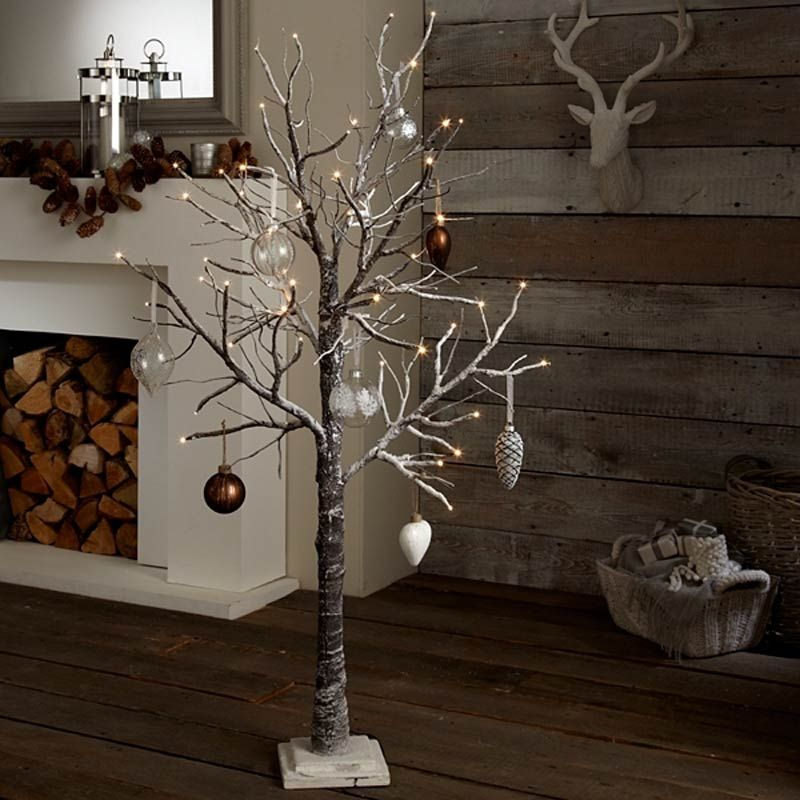 Image Of Rustic Artificial Christmas Tree Lights Rustic