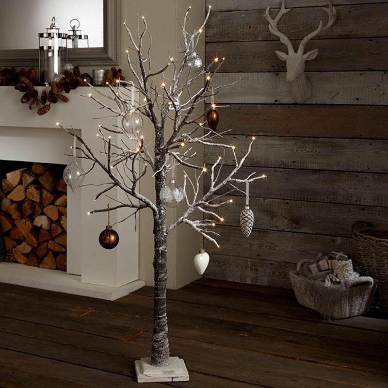 Alternative Christmas Trees Decorating Ideas Extraordinary Alternative Christmas Tree Lights With Christmas Balls Ornam Twig Christmas Tree 4ft Christmas Tree