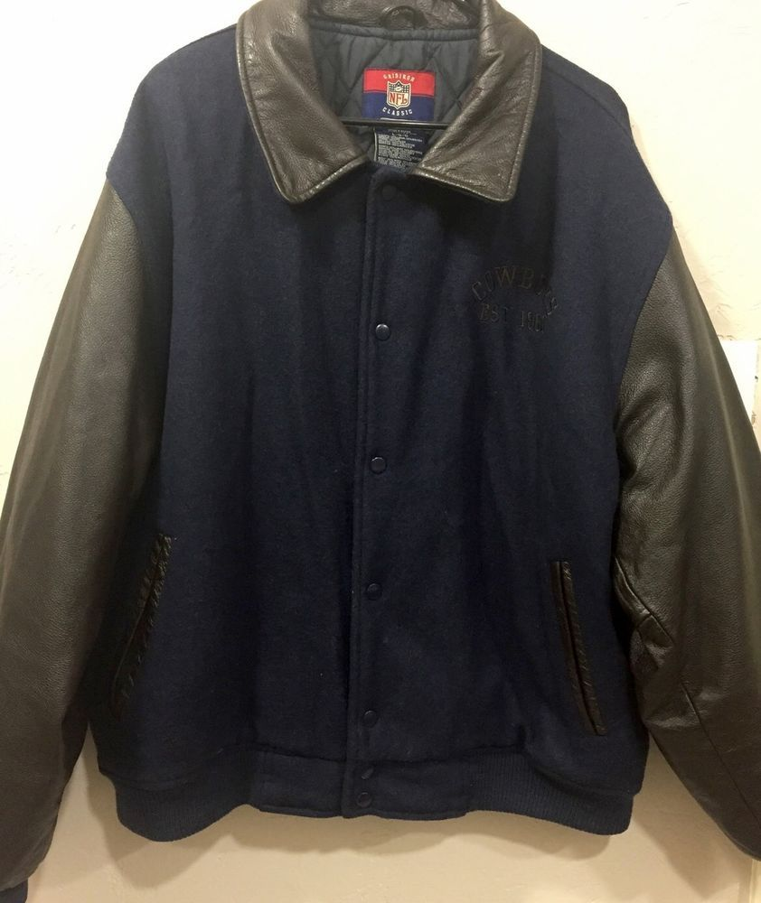 online retailer 3bbd0 b8fd5 Dallas Cowboys Jacket Wool Leather Gridiron Classic ...