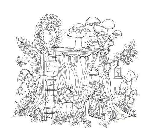 Livro Floresta Encantada Desenhos Para Colorir Com Imagens