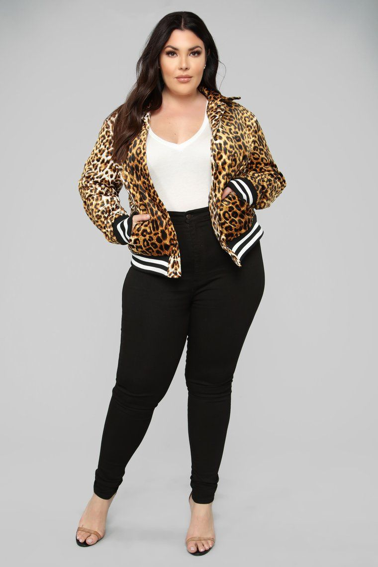 Forever Young Jacket Leopard Plus size summer outfit