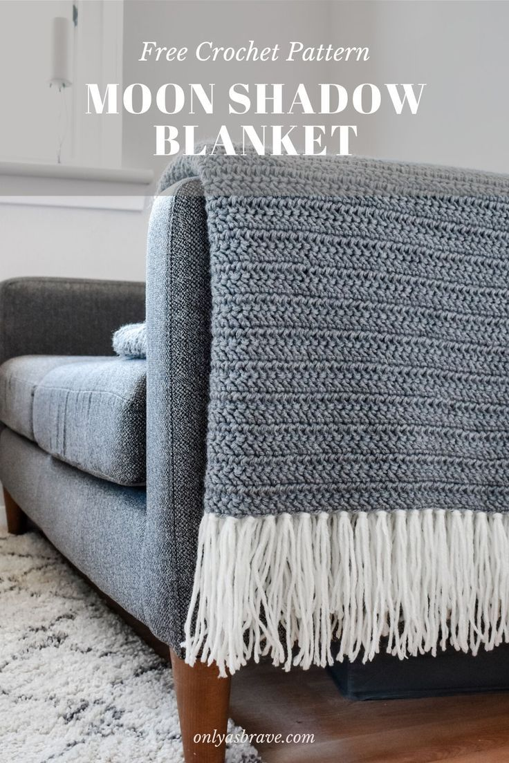 Modern Crochet Blanket - Moon Shadow free pattern