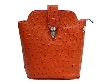Small Burnt Orange Genuine Ostrich Leather Bag With Long Shoulder Strap A Shu Co Uk 26 99 Handbags Pinterest Clutch Bags Stylish And