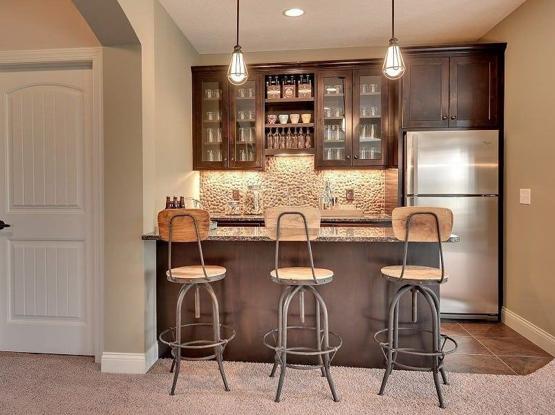45 Clever Basement Bar Ideas We Truly Love Small Basement Kitchen Wet Bar Basement Kitchen Design Small