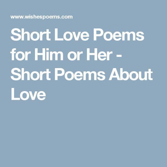short poems for her