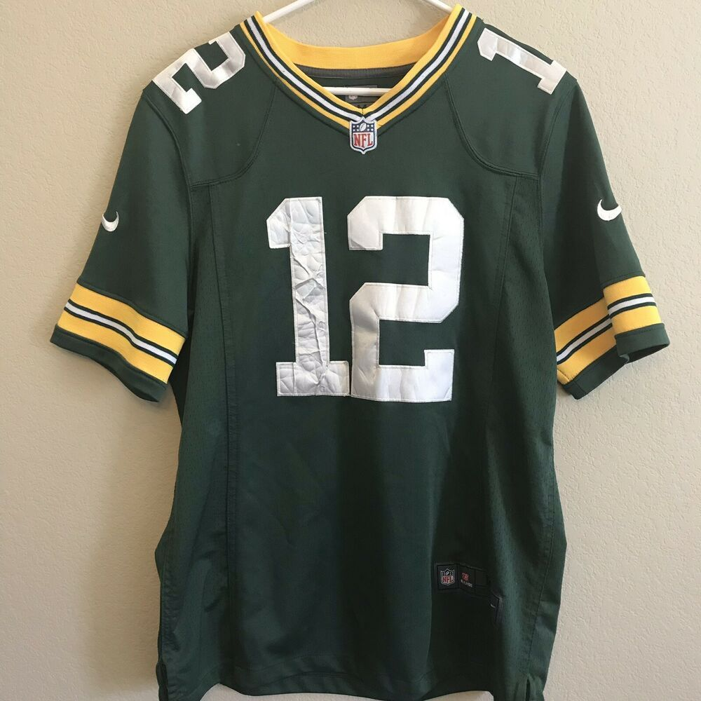 Green Bay Packers Men S Medium Aaron Rogers 12 Jersey Nike Nfl On Field Sewn Nike Greenbaypackers Green Bay Packers Aaron Rogers Nike Nfl