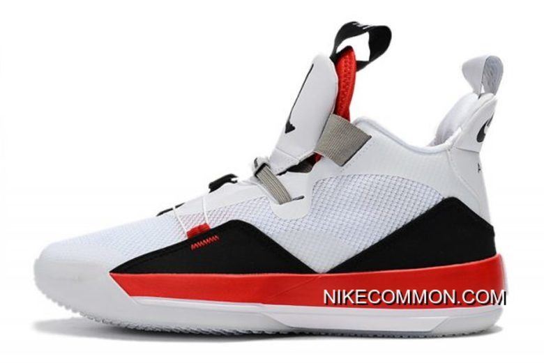 "d76dc412979499 2019 的 Top Deals Air Jordan 33 XXXIII ""Fire Red"" White Fire Red ..."