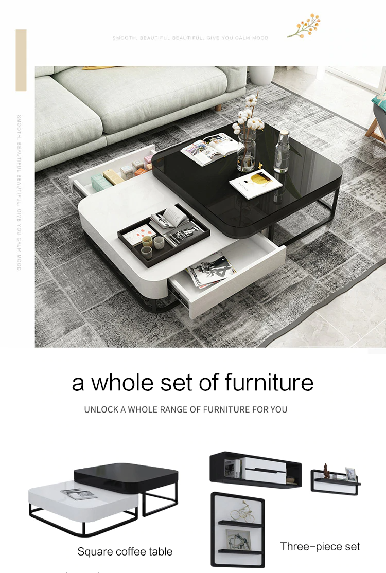 2 Pcs Coffee Table Tv Cabinet Set After The Modern Minimalist Ins Light Luxury Small Apartment Creative C Coffee Table Creative Coffee Table Cheap Coffee Table [ 1114 x 750 Pixel ]