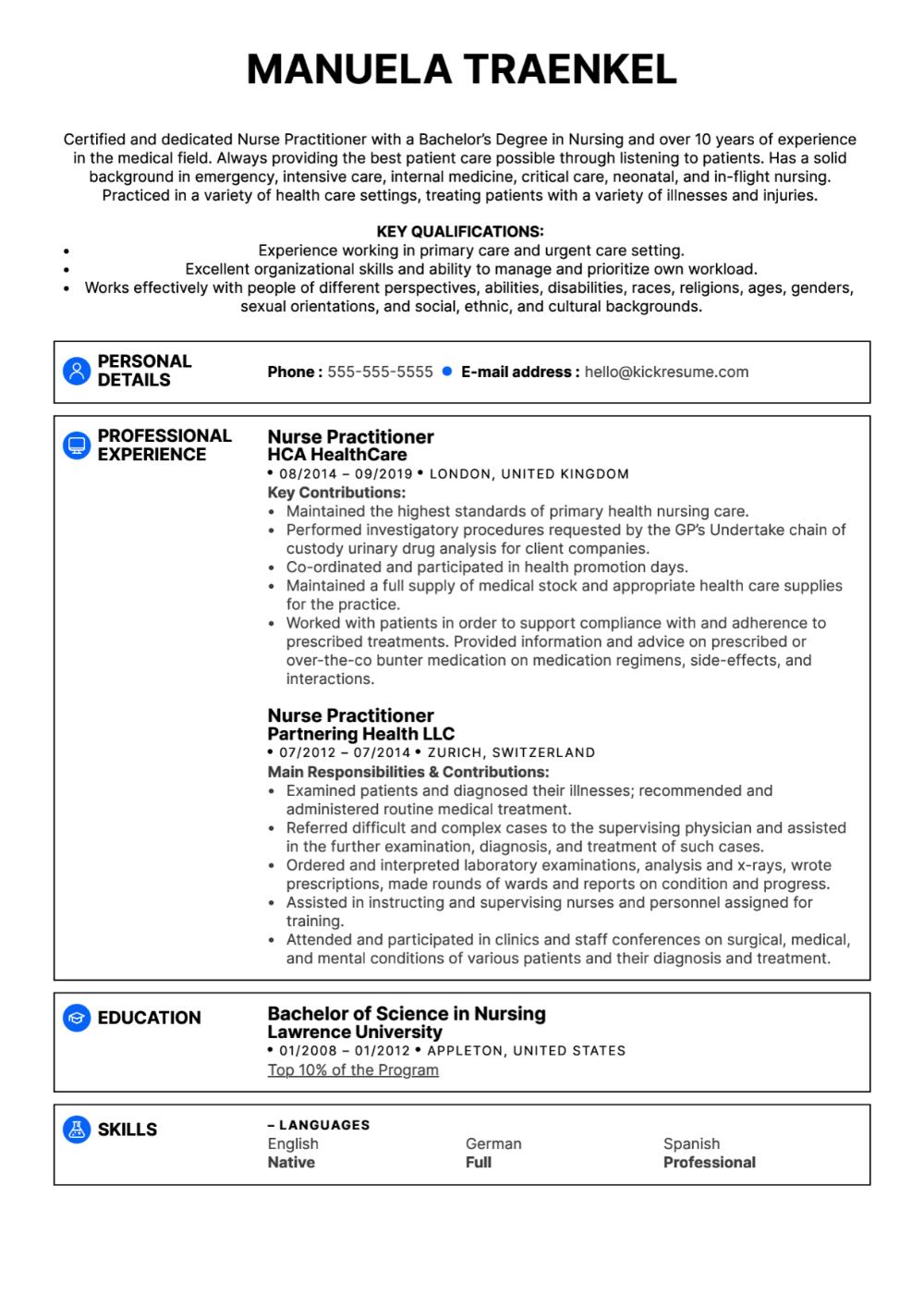 ResumeTemplatesNursePractitioner (1) PROFESSIONAL