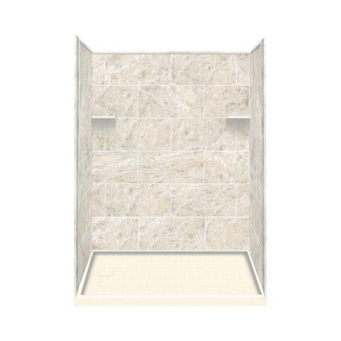 """75"""" x 60"""" x 36"""" Three Panel Shower Wall Shower wall kits"""